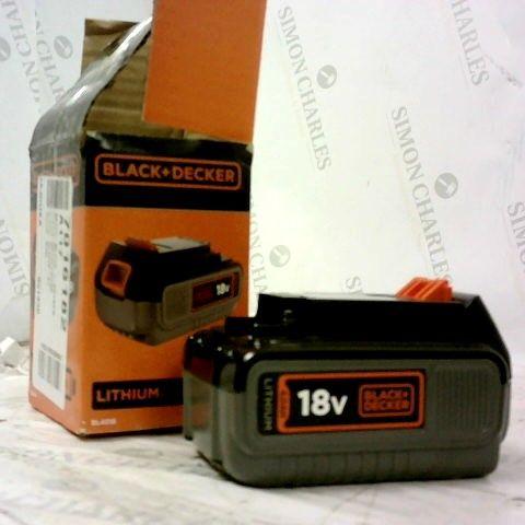 BLACK DECKER LITHIUM BATTERY 18V