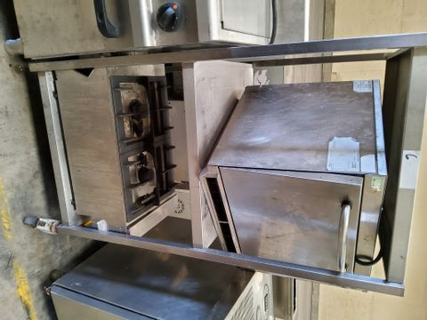 THREE TIER SQUARE METAL CATERING TROLLEY ( CONTENTS NOT INCLUDED)