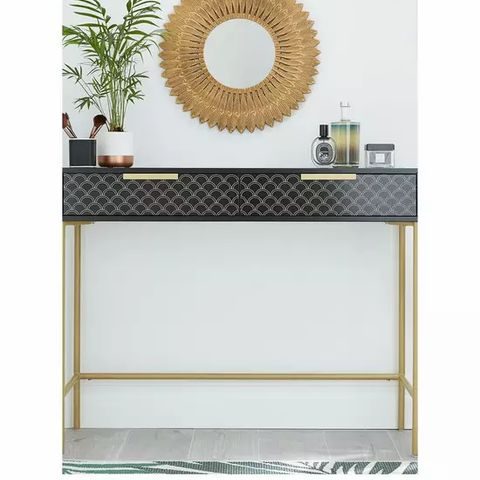 BOSTANIST CONSOLE TABLE BLACK GOLD- COLLECTION ONLY
