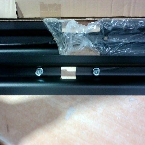 BLACK METAL BRACKETS X 2  70X10