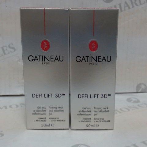 LOT OF 2 GATINEAU DEFI LIFT 3D DECOLLETTE GEL 50ML
