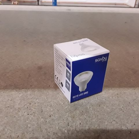 BOXED SAXBY 7W LED GU10 SMD LIGHT BULB