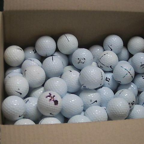 BOX OF ASSORTED GOLF BALLS