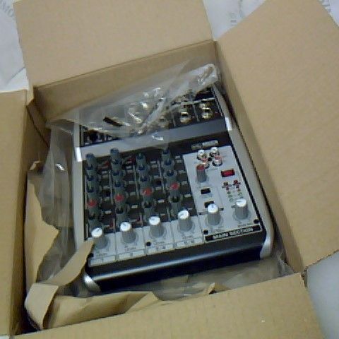 BEHRINGER PREMIUM 8 INPUT 2 BUS MIXER WITH XENYX MIC PREAMPS/COMPRESSORS/BRITISH EQS AND USB/AUDIO INTERFACE
