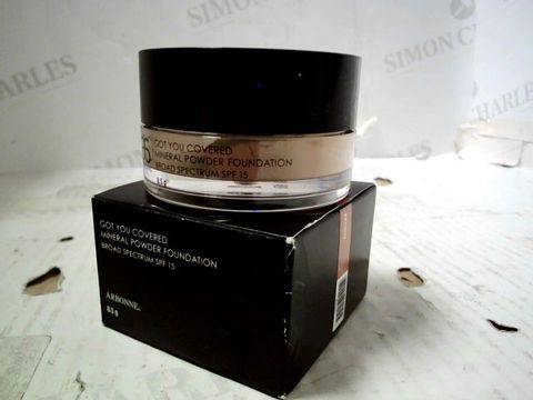 BOX OF APPROXIMATELY 96 ARBONNE - GOT YOU COVERED: MINERAL POWDER FOUNDATION. BROAD SPECTRUM SPF 15. BRONZE