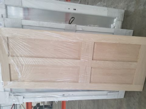 4 PANEL OAK VENEER INTERNAL DOOR 2032 × 813