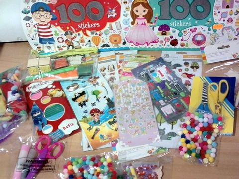 ASSORTED STICKERS/CRAFT SUPPLIES APPROX 20+ ITEMS