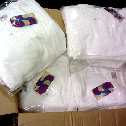 LOT 0F APPROXIMATELY 100 WHITE GIRLS POLO SHIRTS IN VARIOUS SIZES