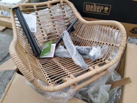 BOXED PAIR OF APOLIMA RATTAN EFFECT TUB CHAIRS