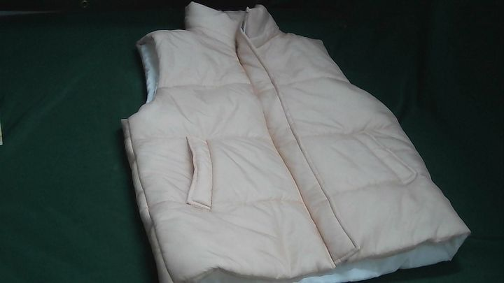 I SAW IT FIRST FUNNEL NECK PADDED GILET BLUSH PINK