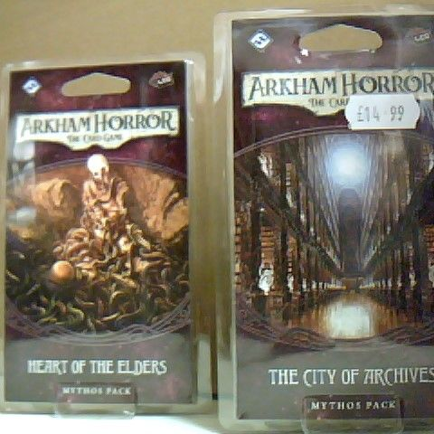 ARKHAM HORROR THE CARD GAMES INCLUDING THE CITY OF THE ARCHIVES AND THE HEART OF THE ELDERS
