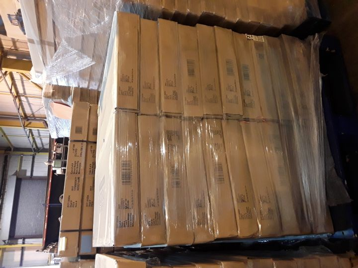 PALLET OF 20 BRAND NEW BOXED GEORGE HOME NEWHAMPTON SIDEBOARD PARTS- BOXES 2 OF 2 ONLY