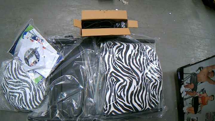 CHAIR GYM TOTAL BODY EXERCISE SYSTEM - ZEBRA PRINT