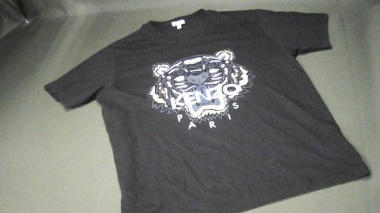 KENZO BLACK CREW NECK T-SHIRT - L