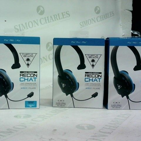 2 X TURTLE BEACH EAR FORCE RECON CHAT HEADSET