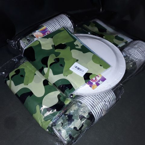 LOT OF 3 16-GUEST CAMO THEMED PARTY PACKS