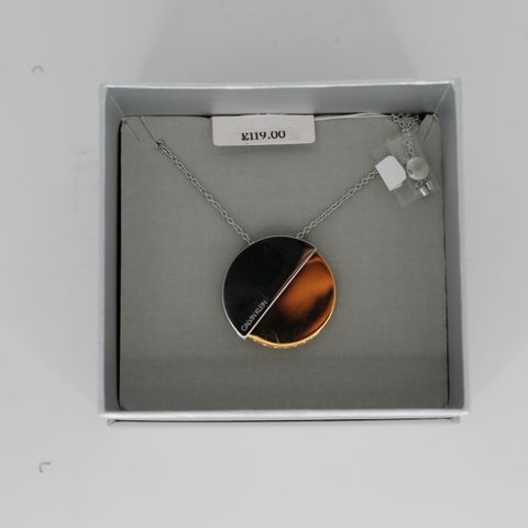 BOXED CALVIN KLEIN PINK AND STEEL NECKLET