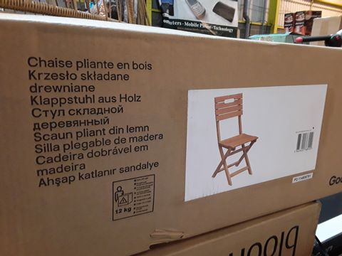 BOXED DENIA PAIR OF GARDEN CHAIRS