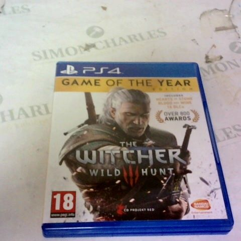 THE WITCHER 3 WILD HUNT GAME OF THE YEAR EDITION PLAYSTATION 4 GAME