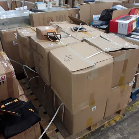 PALLET OF 12 BOXES CONTAINING SIGNIFICANT QUANTITY OF ASSORTED ITEMS INCLUDING TOUGHBUILT 2 IN 1 HAMMER LOOP AND WRIST GRIP EXERCISE