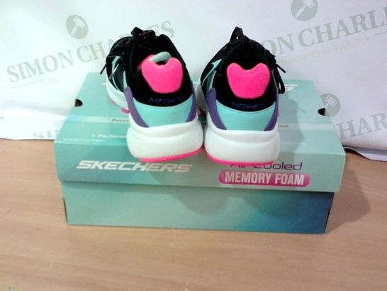 BOXED PAIR OF SKECHERS - SIZE 6