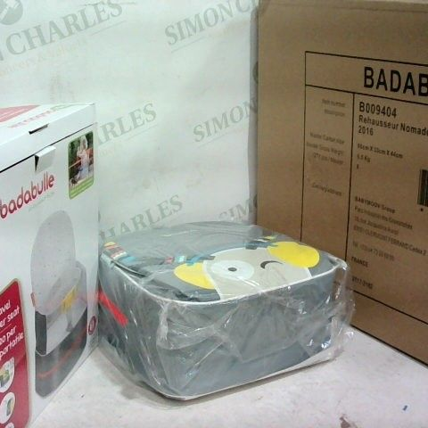 BRAND NEW - BADABULLE TRAVEL BOOSTER SEAT - GREY - BOX OF 6