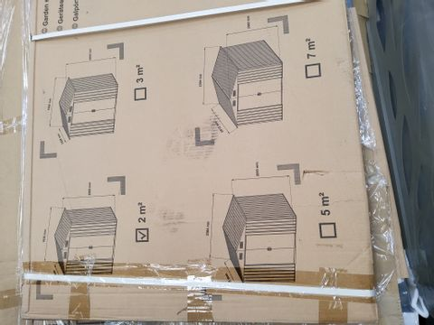 BOXED 2M APEX METAL GARDEN SHED