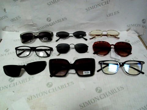 LOT OF APPROXIMATELY 35 ASSORTED EYEWEAR ITEMS TO INCLUDE; SPECTACLES, SUNGLASSES ETC