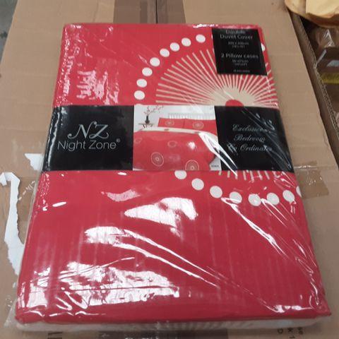 CALVIN DUVET COVER SET & PILLOW 2 CASES- DOUBLE- 200CM X 200CM-PILLOW CASES 50CM X 75CM