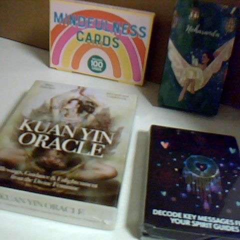 SELECTION OF SPIRITUAL AND MINDFULNESS CARDS INCLUDING KUANYN ORACLE SEALED, UNIVERSAL DREAMS SEALED, MINDFULNESS CARDS AND NOHARANDA AFFIRMATION CARDS