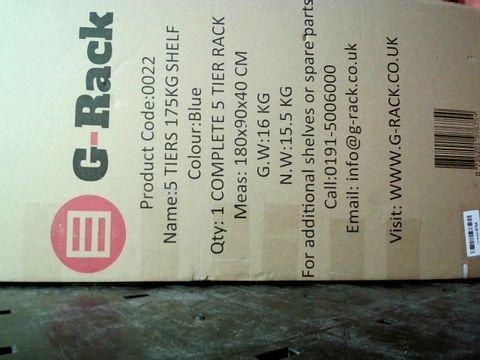 G-RACK GARAGE SHELVING UNITS: 180CM X 90CM X 40CM