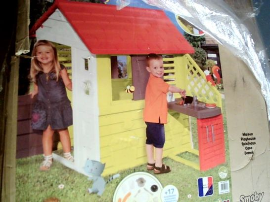 SMOBY NATURE PLAYHOUSE WITH KITCHEN  RRP £139.99