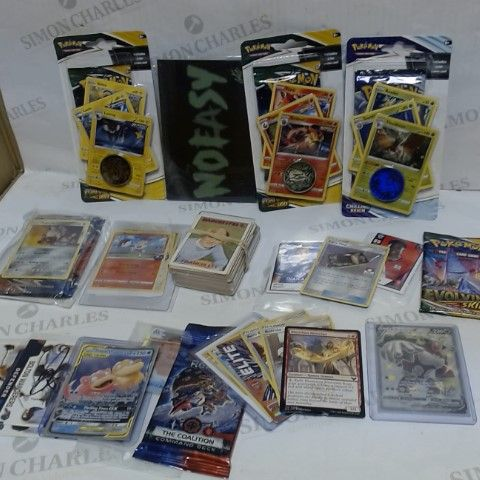 LOT OF A LARGE QUANTITY OF ASSORTED COLLECTIBLE CARDS, TO INCLUDE FOOTBALL, POKEMON & MAGIC THE GATHERING