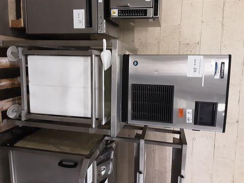 HOSHIZAKI FM-481AGE-HCN ICE MACHINE, C/WITH STAND AND ICE TROLLEY