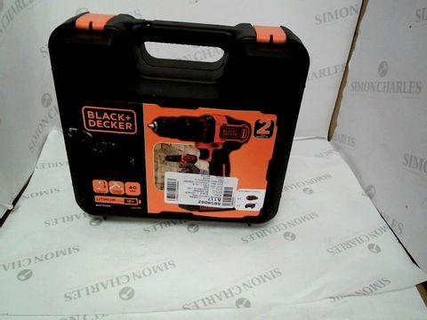 BLACK+DECKER 18 V CORDLESS 2-GEAR COMBI HAMMER DRILL POWER TOOL WITH KITBOX, 1.5 AH LITHIUM-ION