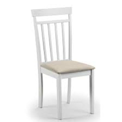 BOXED EXETER WHITE DOLID WOOD DINING CHAIR (1 BOX)