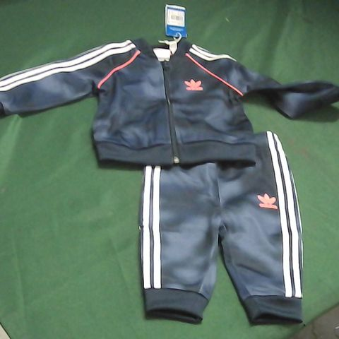 ADIDAS BLUE/RED TRACKSUIT 6-9 MONTHS