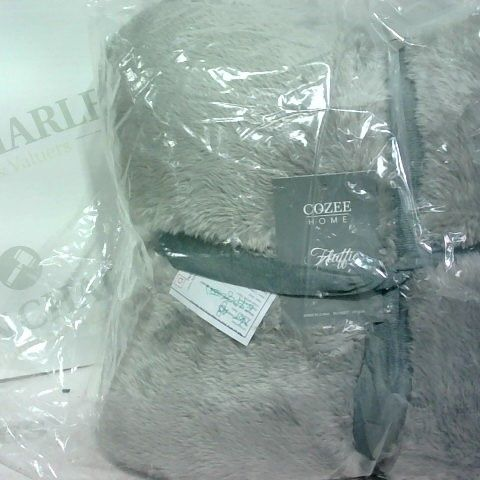 COZEE HOME - FLUFFY PONCHO - GREY