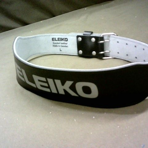 ELEIKO WEIGHT LIFTERS LEATHER BELT LARGE