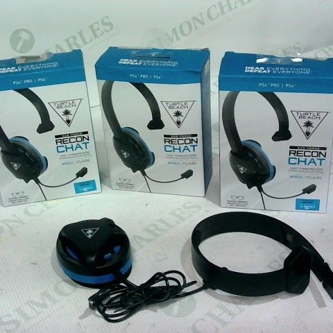 3 X TURTLE BEACH EAR FORCE RECON CHAT WIRED HEADSET
