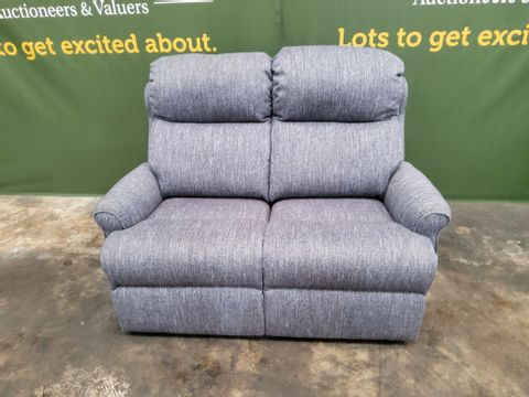 QUALITY G PLAN NORBURY PIERO THUNDERSTORM FABRIC FIXED TWO SEATER SOFA