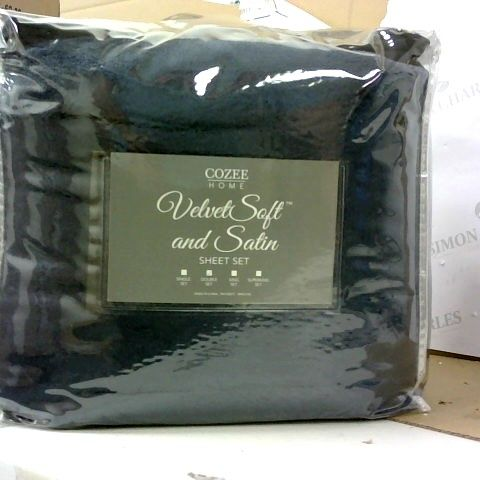 COZEE HOME SATIN TRIM PILLOW & SHEET SET - DOUBLE