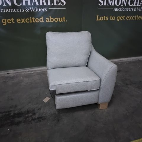 QUALITY G PLAN DUCK EGG FABRIC POWER RECLINING SECTION