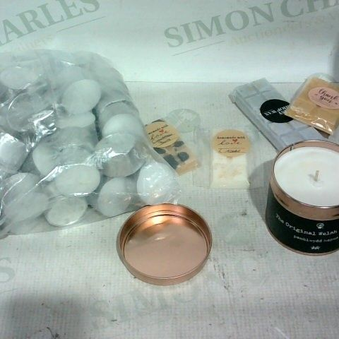 LOT OF APPROX. 20 ASSORTED ITEMS TO INCLUDE: WAX MELTS, TINNED CANDLES, T-LIGHT CANDLES
