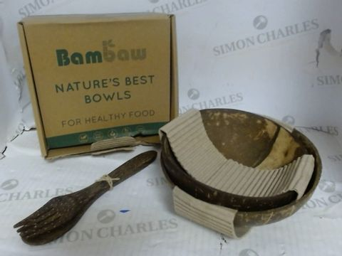 BAMBAW NATURE'S BEST BOWLS - COCONUT BOWLS
