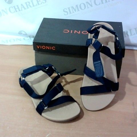BOXED PAIR OF VIONIC SANDALS - SIZE 7