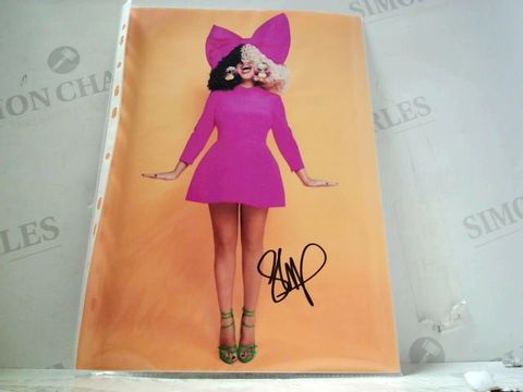 A4 SIA PRINT WITH SIGNATURE
