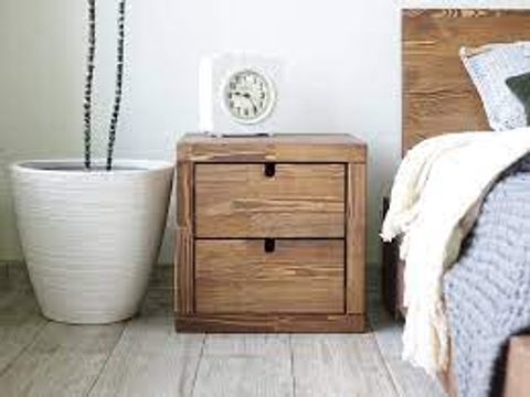 BOXEE CLITHERALL 2-DRAWER BEDSIDE TABLE (1 BOX)
