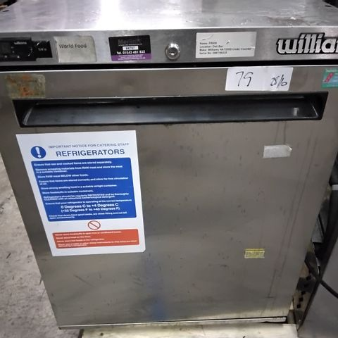 WILLIAMS UNDER COUNTER COMMERCIAL FRIDGE A135SS