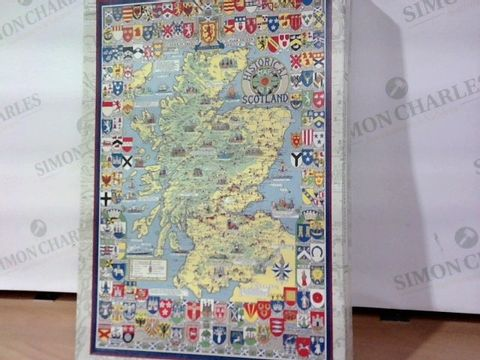 MAPSEEKER PICTORAL HISTORY MAP OF SCOTLAND JIGSAW 69X48 1000pc